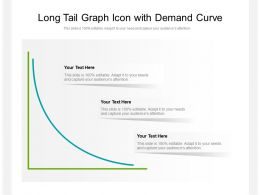 Long Tail Graph Icon With Demand Curve