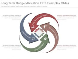 Long Term Budget Allocation Ppt Examples Slides