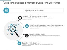 Long Term Business And Marketing Goals Ppt Slide Styles