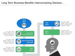 Long Term Business Benefits Interconnecting Decision Evaluating Alternatives