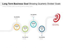 Long Term Business Goal Showing Quarterly Divided Goals