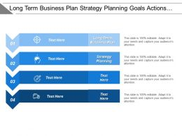 Long Term Business Plan Strategy Planning Goals Actions Feedbacks