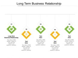 Long Term Business Relationship Ppt Powerpoint Presentation Portfolio Visuals Cpb