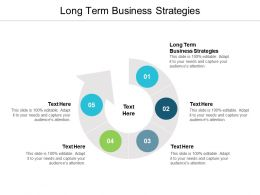 Long Term Business Strategies Ppt Powerpoint Presentation Diagram Lists Cpb