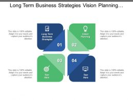 Long Term Business Strategies Vision Planning Strategic Planning Evaluation Cpb