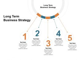 Long Term Business Strategy Ppt Powerpoint Presentation Infographic Template Deck Cpb