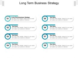 Long Term Business Strategy Ppt Powerpoint Presentation Model Layout Ideas Cpb