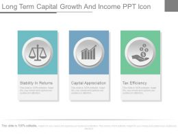 Long Term Capital Growth And Income Ppt Icon