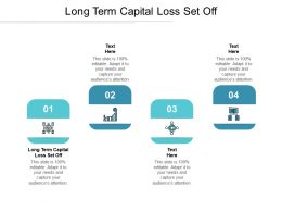 Long Term Capital Loss Set Off Ppt Powerpoint Presentation Icon Files Cpb