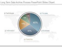 Long Term Data Archive Process Powerpoint Slides Clipart