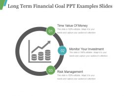 Long Term Financial Goal Ppt Examples Slides