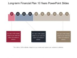Long Term Financial Plan 10 Years Powerpoint Slides
