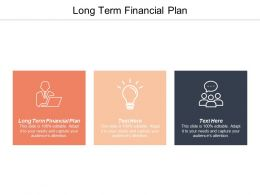Long Term Financial Plan Ppt Powerpoint Presentation Professional Influencers Cpb