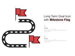 Long Term Goal Icon With Milestone Flag