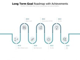 Long Term Goal Roadmap With Achievements