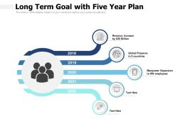 Long Term Goal With Five Year Plan
