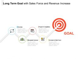 Long Term Goal With Sales Force And Revenue Increase