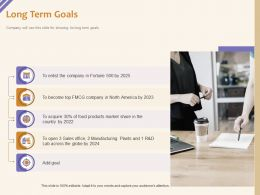 Long Term Goals Food Products Ppt Powerpoint Presentation Show Graphics
