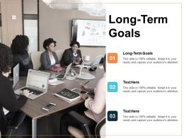 Long Term Goals Ppt Powerpoint Presentation Icon Outfit Cpb
