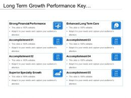 Long Term Growth Performance Key Accomplishments Chart With Icons