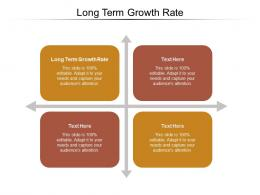 Long Term Growth Rate Ppt Powerpoint Presentation Infographics Guide Cpb