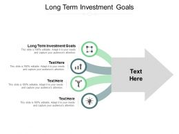 Long Term Investment Goals Ppt Powerpoint Presentation Professional Format Ideas Cpb