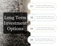 Long Term Investment Options Powerpoint Ideas
