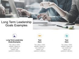 Long Term Leadership Goals Examples Ppt Powerpoint Presentation Diagrams Cpb