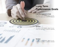 Long Term Performance Goals Ppt Powerpoint Presentation Show Influencers Cpb