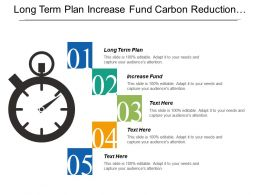 Long Term Plan Increase Fund Carbon Reduction Strategies