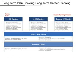 Long Term Plan Showing Long Term Career Planning