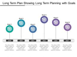 Long Term Plan Showing Long Term Planning With Goals