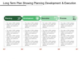 Long Term Plan Showing Planning Development And Execution