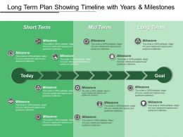 Long Term Plan Showing Timeline With Years And Milestones