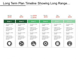 Long Term Plan Timeline Showing Long Range Planning With Goals