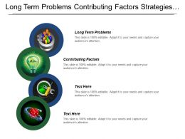 Long Term Problems Contributing Factors Strategies Practices Outcomes Impacts
