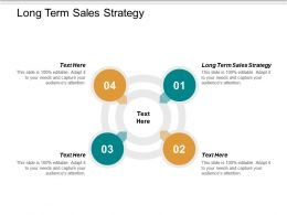 Long Term Sales Strategy Ppt Powerpoint Presentation Inspiration Shapes Cpb