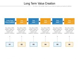 Long Term Value Creation Ppt Powerpoint Presentation Summary Slides Cpb