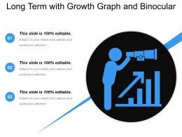 Long Term With Growth Graph And Binocular