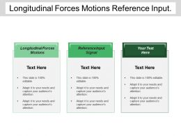 Longitudinal Forces Motions Reference Input Signal Feedback Elements