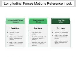 Longitudinal Forces Motions Reference Input Signal Feedback Elements