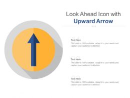Look Ahead Icon With Upward Arrow