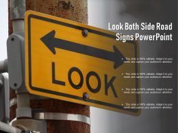 Look Both Side Road Signs Powerpoint