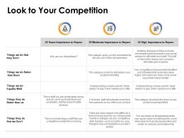 Look To Your Competition Ppt Powerpoint Presentation Summary File