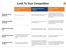 Look To Your Competition Strategy Ppt Powerpoint Presentation Infographic Template Layouts