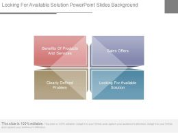 Looking For Available Solution Powerpoint Slides Background