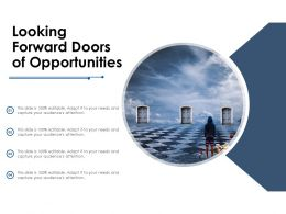 Looking Forward Doors Of Opportunities