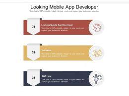 Looking Mobile App Developer Ppt Powerpoint Presentation Portfolio Topics Cpb