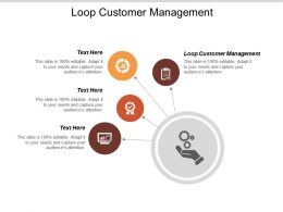Loop Customer Management Ppt Powerpoint Presentation Model Examples Cpb