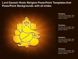 Lord Ganesh Hindu Religion Powerpoint Templates With All Slides Ppt Powerpoint